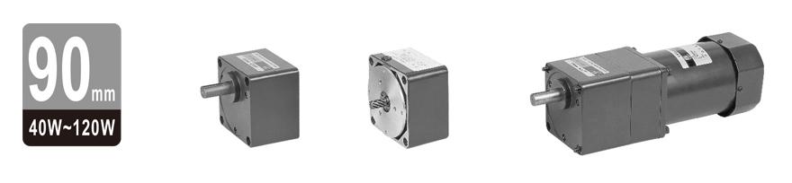40W~120W单相可逆附电磁离合器齿轮减速电机图片