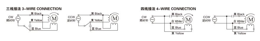 6W~25W微型直线往复电机接线图