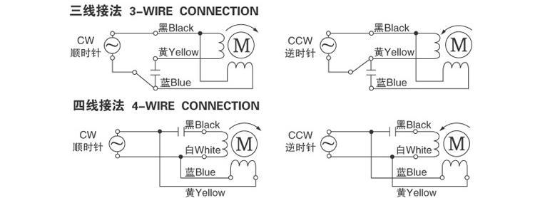 微型蜗轮电机YYWJ90接线图